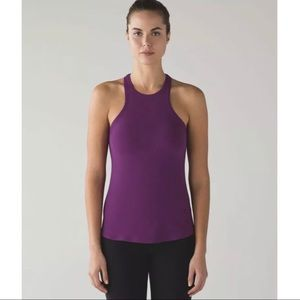 Lululemon Simply Bare Aurora Black Tank Top